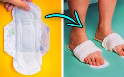 FUNNY Life Hacks for Sanitary Pads & Tampons